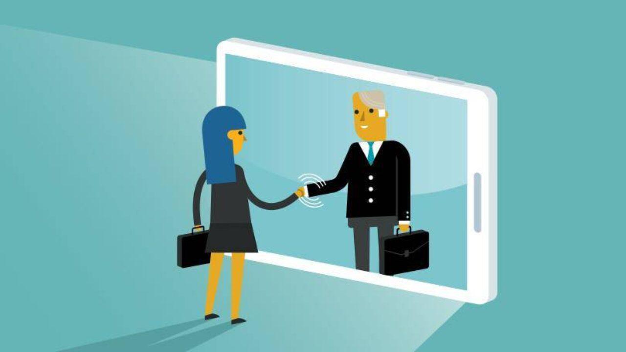 Virtually greeting business customers
