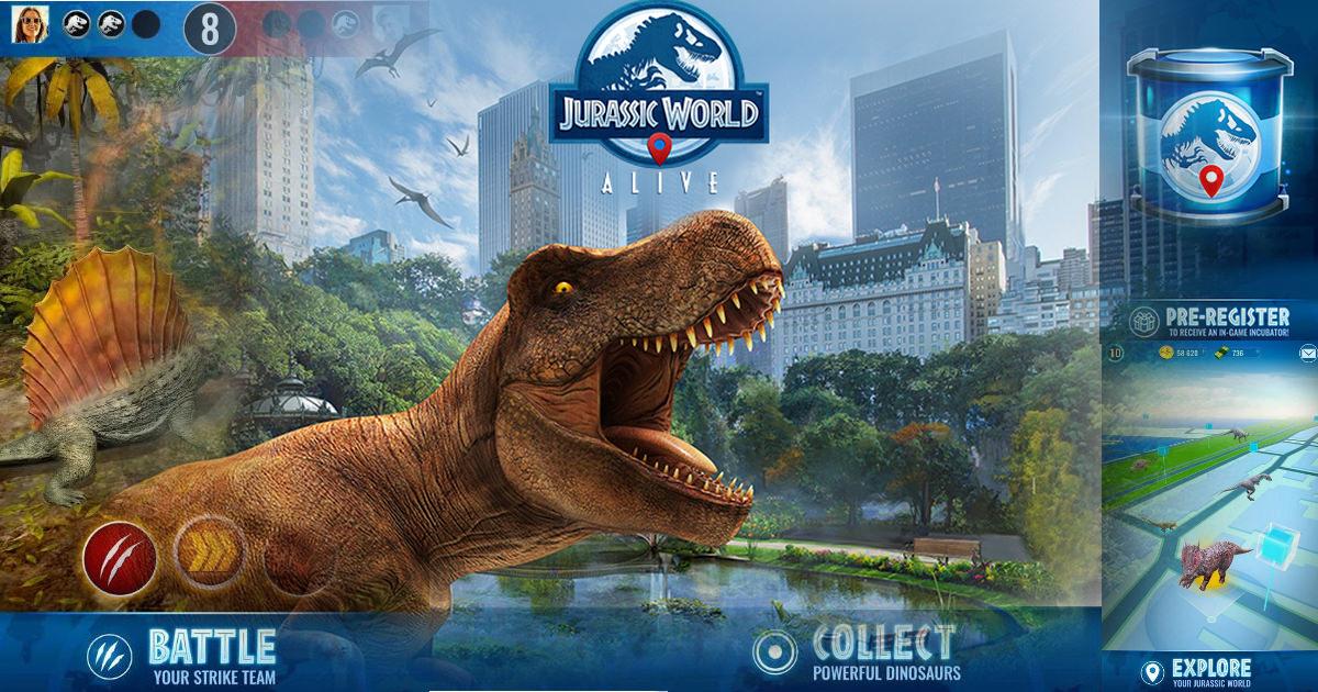 AR game Jurassic World Alive